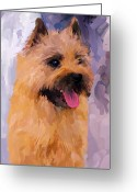 Cairn Terrier Greeting Cards - Cairn Terrier Greeting Card by Jai Johnson