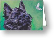 Cairn Terrier Greeting Cards - Cairn Terrier Greeting Card by Lee Ann Shepard