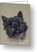 Cairn Terrier Greeting Cards - Cairn Terrier Greeting Card by Susan Herber