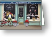 Kitchen Decor Greeting Cards - Caitlins Cakery and Cafe Greeting Card by Catherine Holman
