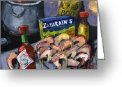 Louisiana Seafood Greeting Cards - Cajun Boil Greeting Card by Carole Foret