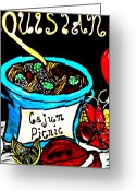 Cajun Greeting Cards - Cajun Picnic Greeting Card by Amy Carruth-Drum