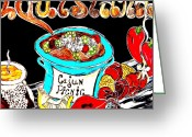 Cajun Greeting Cards - Cajun Picnic No.2 Greeting Card by Amy Carruth-Drum