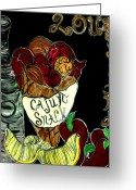 Cajun Greeting Cards - Cajun Snack Greeting Card by Amy Carruth-Drum