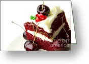 Moist Greeting Cards - Cake Greeting Card by Blink Images