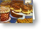 Tilly Strauss Greeting Cards - Cake Case Greeting Card by Tilly Strauss