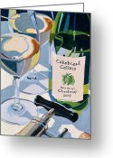 Blue Cat Greeting Cards - Cakebread Chardonnay Greeting Card by Christopher Mize