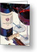 Wine Greeting Cards - Cakebread Greeting Card by Christopher Mize