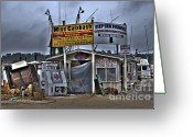 Photographers Atlanta Greeting Cards - Calabash Bait Shop Greeting Card by Corky Willis Atlanta Photography