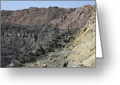 Mound Greeting Cards - Caldera Wall And North Crater, Erta Ale Greeting Card by Richard Roscoe