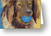 Dog Prints Greeting Cards - Caleigh Greeting Card by Pat Saunders-White