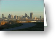 Mark Lehar Greeting Cards - Calgary Rising Greeting Card by Mark Lehar