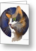 Calico Cat Greeting Cards - Calico Greeting Card by Arline Wagner