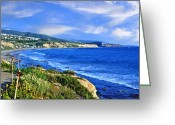 Dana Point Greeting Cards - California coastal Greeting Card by Anthony Citro