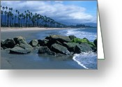 Beach Framed Prints Greeting Cards - California Dreamin Greeting Card by Kathy Yates