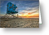 Sun Greeting Cards - California Dreaming Greeting Card by Larry Marshall