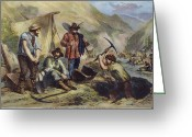 1856 Greeting Cards - California Gold Diggers Greeting Card by Granger