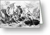 Encampment Greeting Cards - California Gold Rush, 1856 Greeting Card by Granger