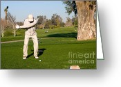 Golf Green Greeting Cards - California Golf Course Morning Golfers Greeting Card by ELITE IMAGE photography By Chad McDermott