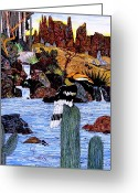 Hornbill Painting Greeting Cards - California Hornbill Greeting Card by Doug Hiser