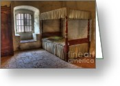 Historic Furniture Greeting Cards - California Mission La Purisima Bedroom Greeting Card by Bob Christopher