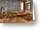 Historic Furniture Greeting Cards - California Mission La Purisima Greeting Card by Bob Christopher