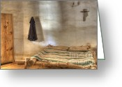 Historic Furniture Greeting Cards - California Mission La Purisima Private Quarters Greeting Card by Bob Christopher