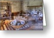 Historic Furniture Greeting Cards - California Mission La Purisima Weavers Studio Greeting Card by Bob Christopher