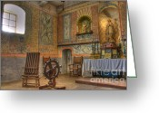 Historic Furniture Greeting Cards - California Missions La Purisima Alter Greeting Card by Bob Christopher