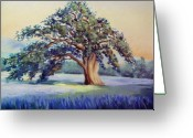 Oak Pastels Greeting Cards - California Oak Greeting Card by Karin  Leonard