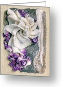Shells Mixed Media Greeting Cards - California Opus 07 Greeting Card by Carol Zee