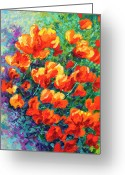 Bouquets Greeting Cards - California Poppies Greeting Card by Marion Rose