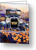 Model A Greeting Cards - California Poppy Greeting Card by Mike Hill