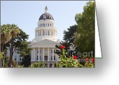 C Casch Greeting Cards - California State Capitol Building Front View Greeting Card by C Casch