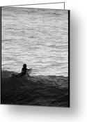 Big Wave Surfing Greeting Cards - California Surfing Greeting Card by Brad Scott