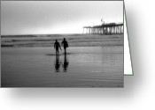 James Barnes Greeting Cards - Californian Surfers Greeting Card by James Barnes