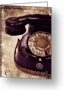 Communicate Greeting Cards - Call me Greeting Card by Angela Doelling AD DESIGN Photo and PhotoArt