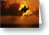 F-18 Greeting Cards - Call The Ball Greeting Card by Jeffrey Campbell