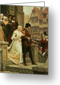 Threat Greeting Cards - Call to Arms Greeting Card by Edmund Blair Leighton
