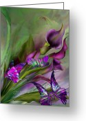 Floral Print Greeting Cards - Calla Lilies Greeting Card by Carol Cavalaris