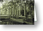 Entryway Greeting Cards - Calle Grande Ruins Greeting Card by DigiArt Diaries by Vicky Browning