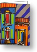 Puerto Rico Greeting Cards - Calle Luna Greeting Card by Mary Tere Perez