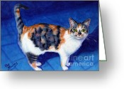 Animals Greeting Cards - Callie Greeting Card by Pat Burns