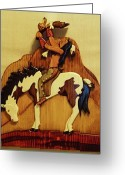 Horse Sculpture Greeting Cards - Calling the Great Spirit Greeting Card by Russell Ellingsworth
