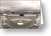 Stadium Greeting Cards - Calm Before The Blue Storrm Greeting Card by Esteban Ramirez