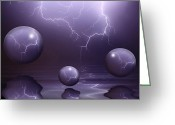 "\""lightning Strike\\\"" Greeting Cards - Calm Before The Storm Greeting Card by Shane Bechler"