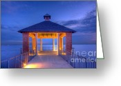 Beautiful Image Greeting Cards - Calm Evening Greeting Card by Pixel Perfect by Michael Moore
