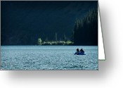Cameron Greeting Cards - Calm on Cameron Lake Greeting Card by Tom Buchanan