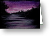 Purples Pastels Greeting Cards - Calming Greeting Card by Garrett Wright
