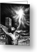 Christ Greeting Cards - Calvary Greeting Card by Peter Piatt